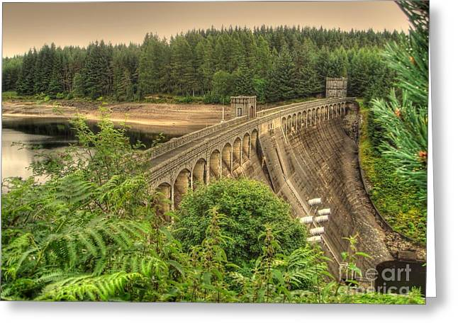 Williams Dam Greeting Cards - Laggan Dam Greeting Card by Yvonne Johnstone