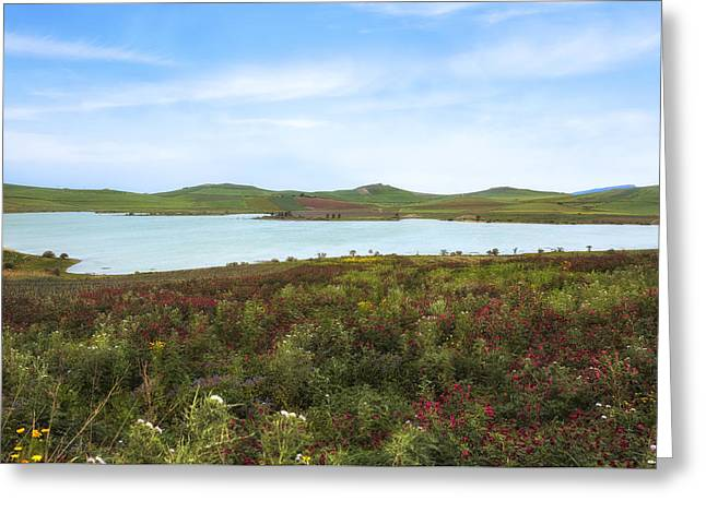 Lago Rubino - Sicily Greeting Card by Joana Kruse