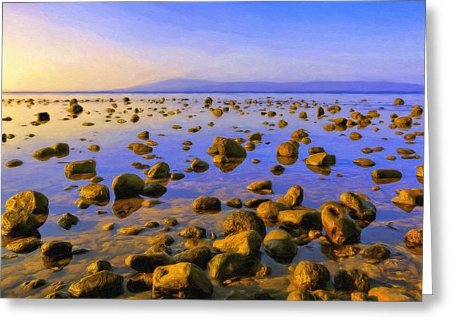 Lahaina Greeting Cards - Lagoon Sunset on Molokai Greeting Card by Dominic Piperata