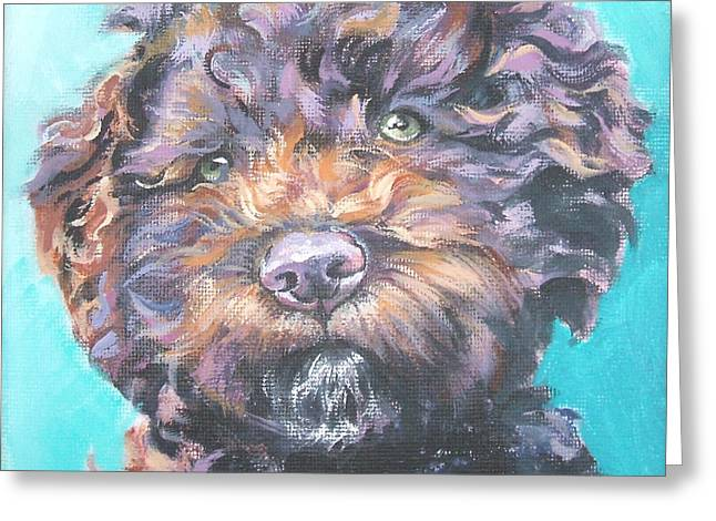 Lagotto Romagnolo Greeting Card by Lee Ann Shepard