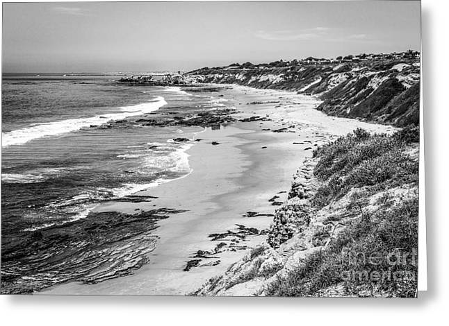 Laguna Beach Ca Black And White Photography Greeting Card by Paul Velgos