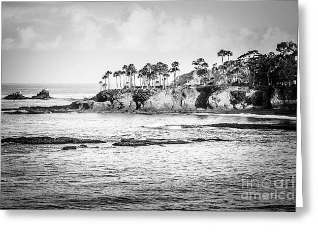 Beach Photography Greeting Cards - Laguna Beach California Black and White Picture Greeting Card by Paul Velgos