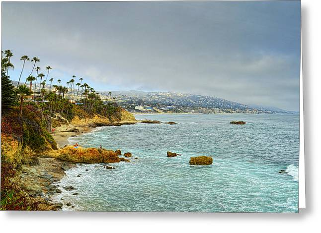Ocean Scenes Greeting Cards - Laguna Beach Coastline Greeting Card by Glenn McCarthy Art and Photography