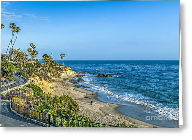 Ca Greeting Cards - Laguna Beach  Cove Greeting Card by David  Zanzinger