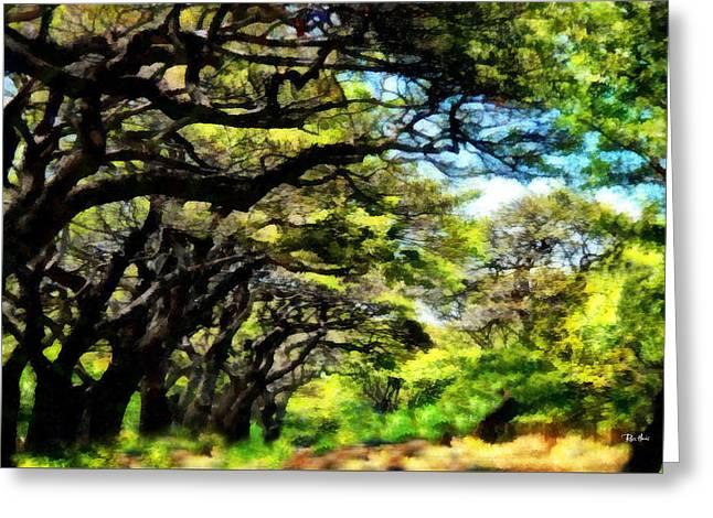 Lahaina Drive Maui Greeting Card by Russ Harris