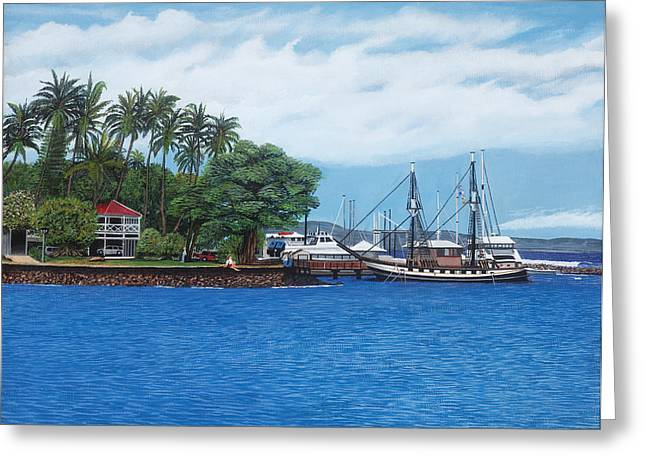 Lahaina Greeting Cards - Lahaina Harbor, Maui Greeting Card by Robert Bradshaw
