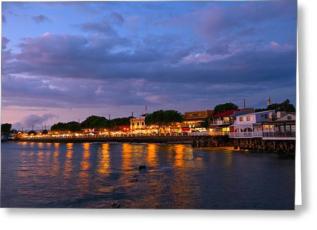 Lahaina Photographs Greeting Cards - Lahaina Roadstead Greeting Card by James Roemmling
