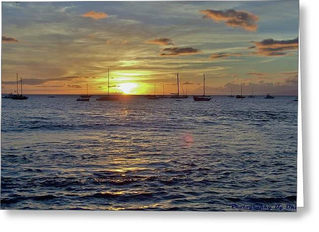 Lahaina Greeting Cards - LaHaina Sunset Greeting Card by Douglas Kriezel