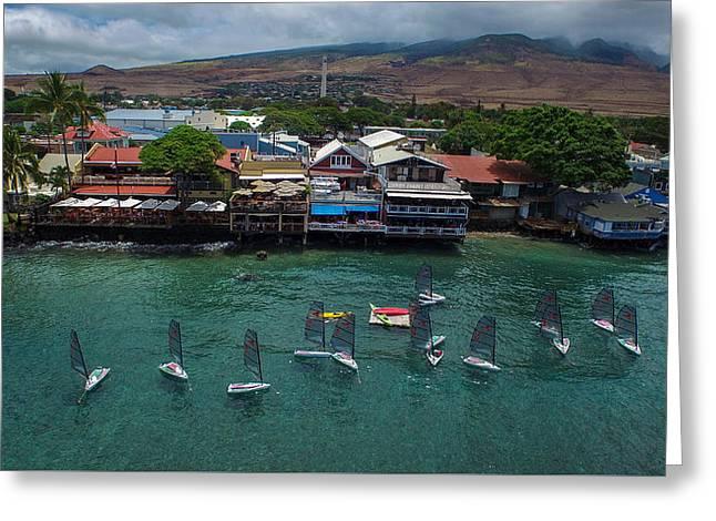 Lahaina Yacht Club  Greeting Card by Matty  Schweitzer