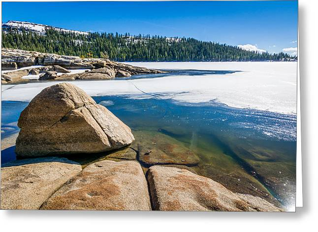 Ebbetts Pass Greeting Cards - Lake Alpine in Spring Greeting Card by Cristi Canepa