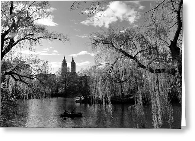 Willow Lake Greeting Cards - Lake Greeting Card by Andrew Dinh