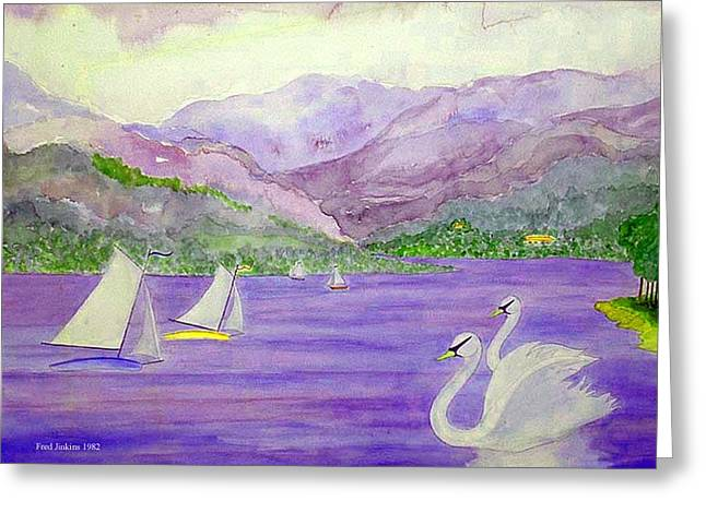 Lake Annecy France Greeting Card by Fred Jinkins