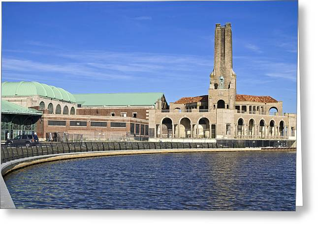 Asbury Park Jersey Shore Architecture Greeting Cards - Lake Asbury Park Greeting Card by Andrew Kazmierski