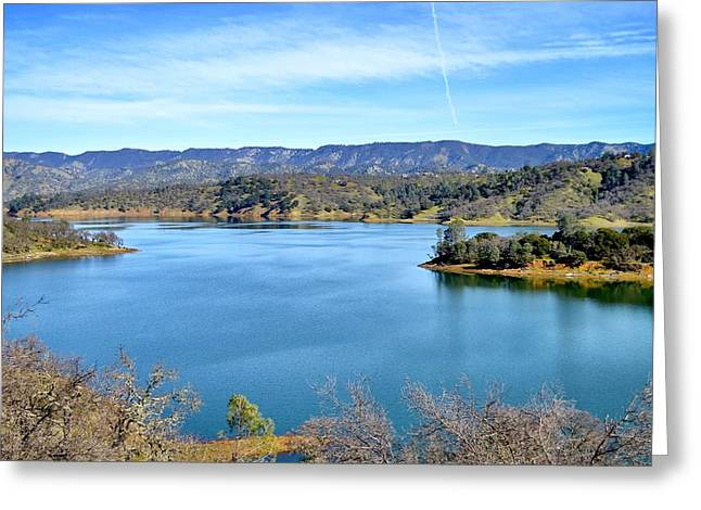 Lake Berryessa Greeting Cards - Lake Berryessa Greeting Card by Maria Jansson