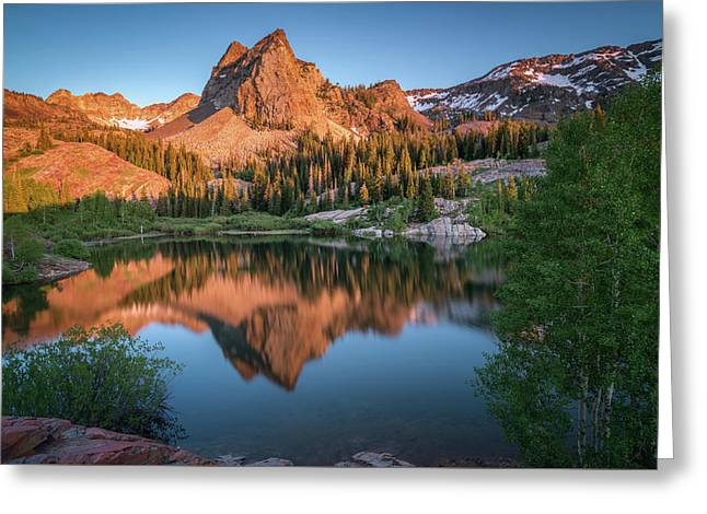 Lake Blanche At Sunset Greeting Card by James Udall