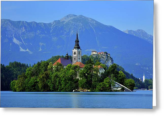 Bled Greeting Cards - Lake Bled Slovenia Greeting Card by Don Wolf