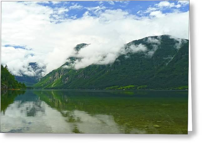 Bohinj Lake Greeting Cards - Lake Bohinj Greeting Card by Daniel Csoka