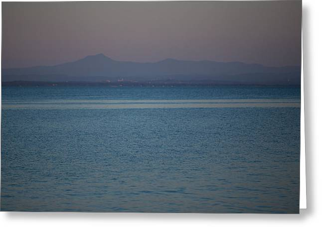 Mountain Valley Greeting Cards - Lake Champlain and Mt. Mansfield. Greeting Card by Michael French