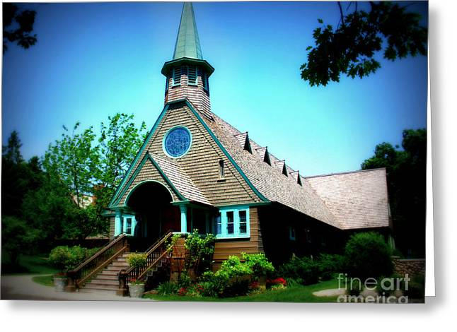 Webster Springs Greeting Cards - Lake Church Greeting Card by Perry Webster