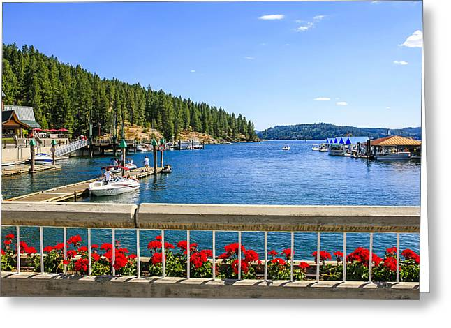 Outlook Greeting Cards - Lake Coeur dAlene Greeting Card by Chris Smith