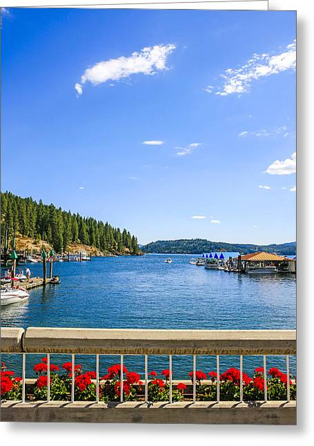 Outlook Greeting Cards - Lake Coeur dAlene Idaho Greeting Card by Chris Smith