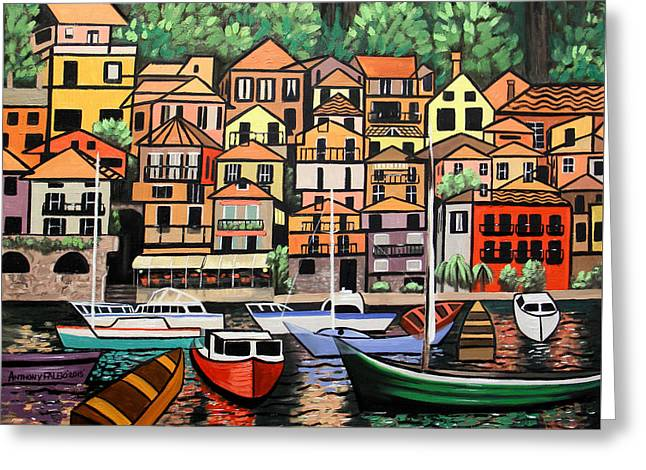 Lake Como Italy Greeting Card by Anthony Falbo