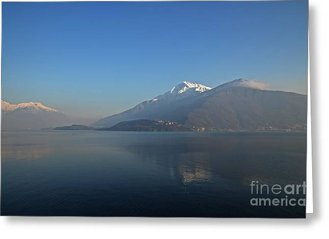 Snow Capped Greeting Cards - Lake como Greeting Card by Mats Silvan