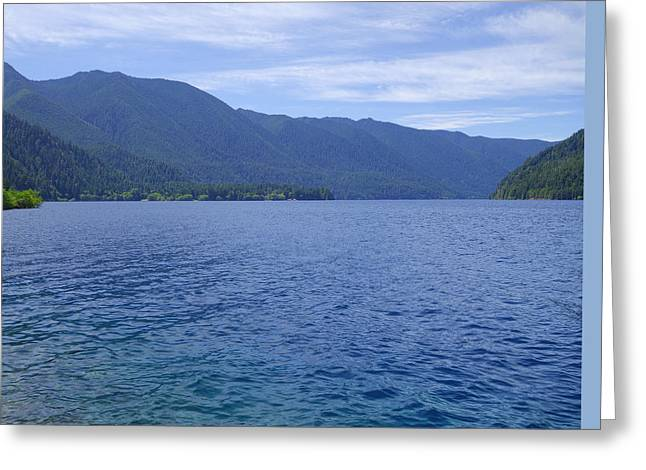 Lake Crescent Greeting Card by Dan Sproul