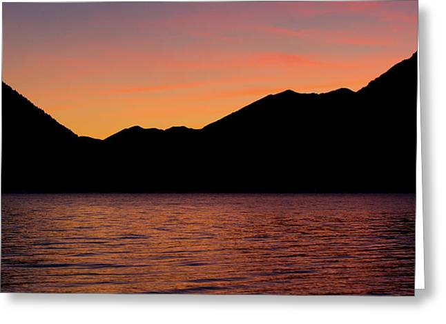 Lake Crescent Greeting Cards - Lake Crescent Greeting Card by Peter Verdnik