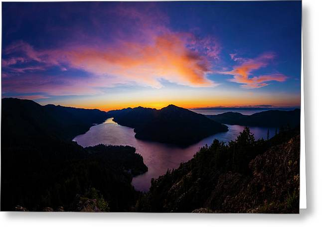 Lake Crescent Sunset Greeting Card by Pelo Blanco Photo