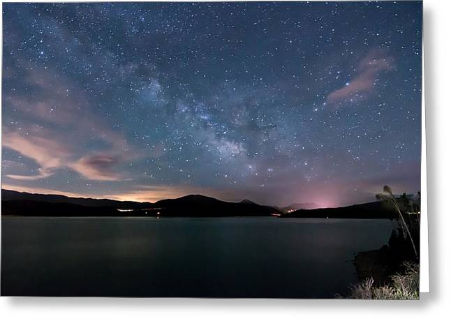 Lake Dillon Milky Way Greeting Card by Michael J Bauer