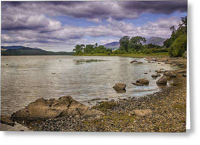 Jetty View Park Greeting Cards - lake district HDR Greeting Card by Chris Smith