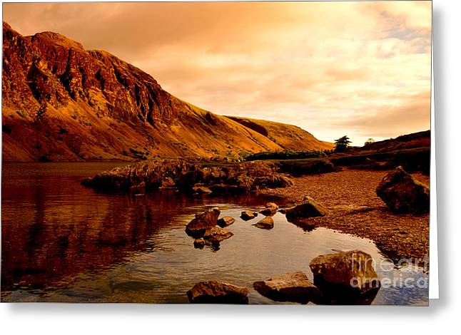 Prints Photographs Greeting Cards - Lake District National Park Greeting Card by Steven Brennan