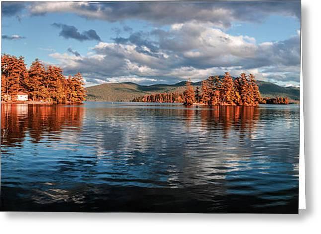 Thomas Marchessault Greeting Cards - Lake George Panorama  Greeting Card by Thomas Marchessault