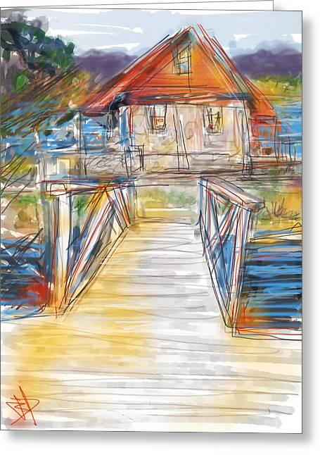 Lake House Greeting Cards - Lake House Greeting Card by Russell Pierce