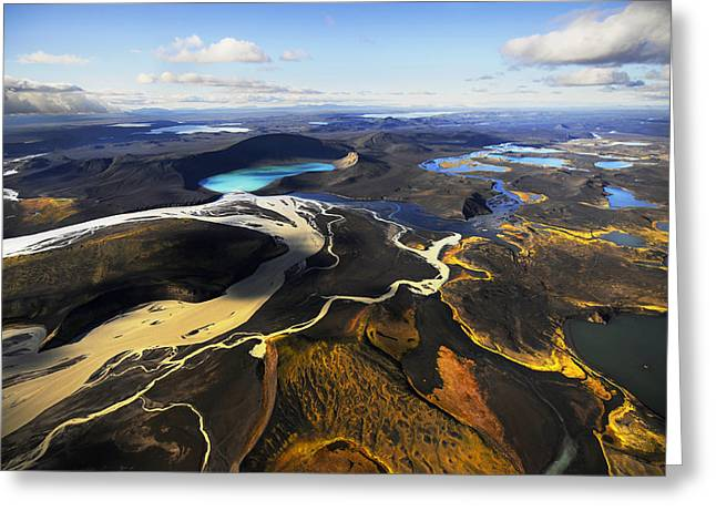 Lake In An Old Volcanic Crater Or Greeting Card by Mattias Klum
