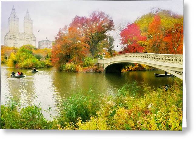 Lake In The Park Greeting Card by Diana Angstadt