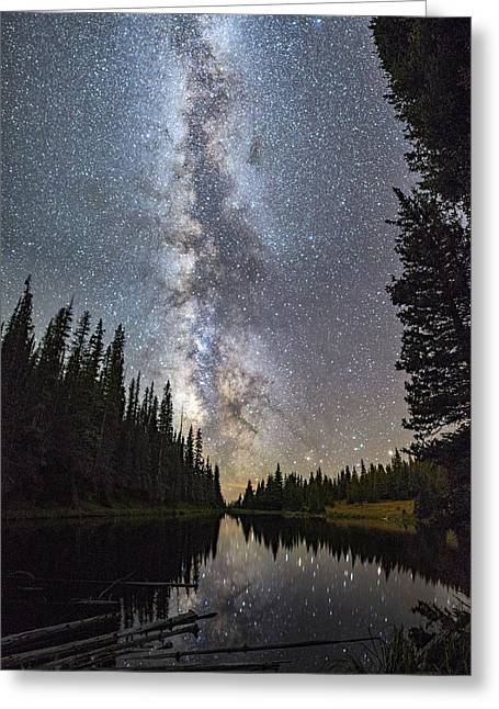 Lake Irene Greeting Cards - Lake Irene Under the Stars Greeting Card by David Soldano