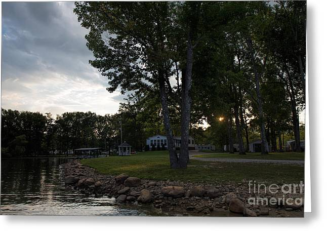 Sunset Posters Greeting Cards - Lake James Camp Ground Greeting Card by Robert Loe