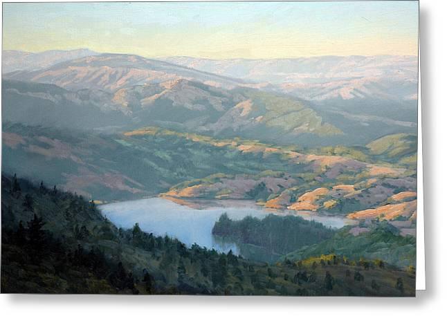 Marin County Greeting Cards - Lake Lagunitas Greeting Card by Armand Cabrera