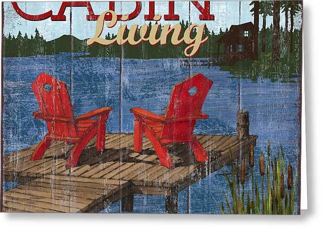 Lake House Paintings Greeting Cards - Lake Living I Greeting Card by Paul Brent