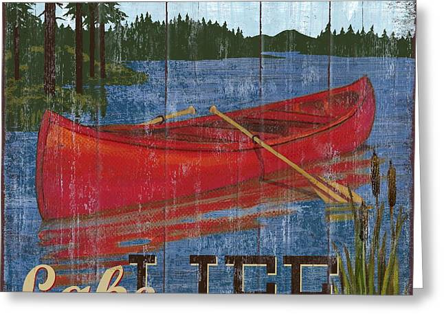 Lake House Paintings Greeting Cards - Lake Living II Greeting Card by Paul Brent