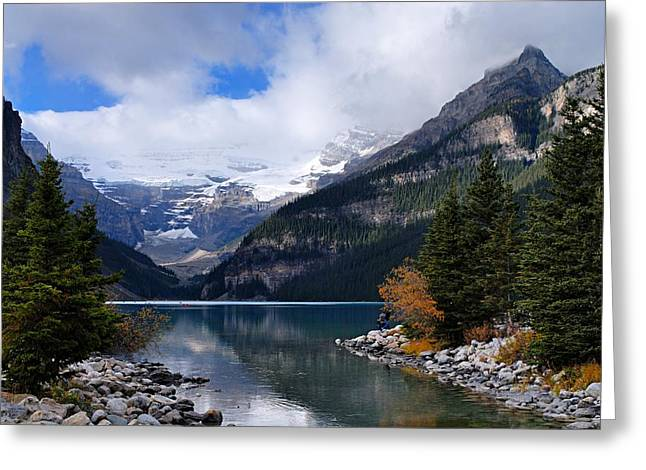 Lake Louise Greeting Card by Larry Ricker