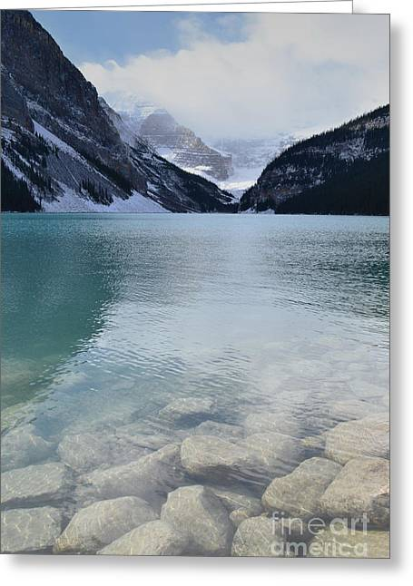 Rocky Mountain National Park Greeting Cards Greeting Cards - Lake Louise Winter Morning Greeting Card by Andrea Hazel Ihlefeld