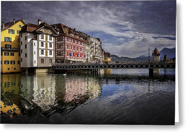 Lake Lucerne  Greeting Card by Carol Japp