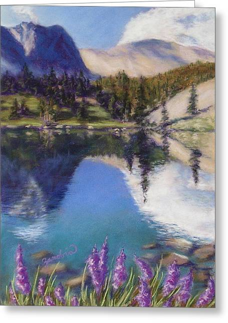 Serene Pastels Greeting Cards - Lake Marie Greeting Card by Zanobia Shalks