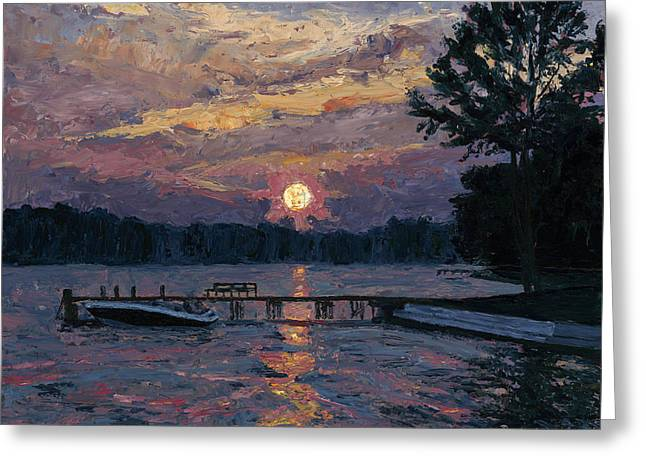 Lake Martin Sunset Greeting Card by Tyler Smith