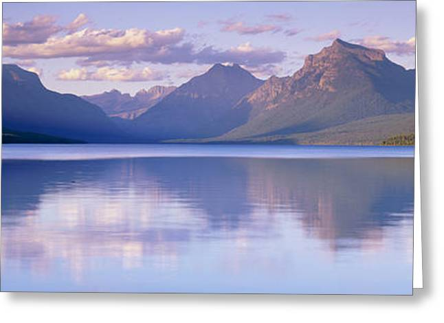 Aquatic Greeting Cards - Lake Mcdonald Glacier National Park Mt Greeting Card by Panoramic Images