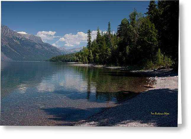 West Glacier Greeting Cards - Lake McDonald Montana Greeting Card by Tom Buchanan