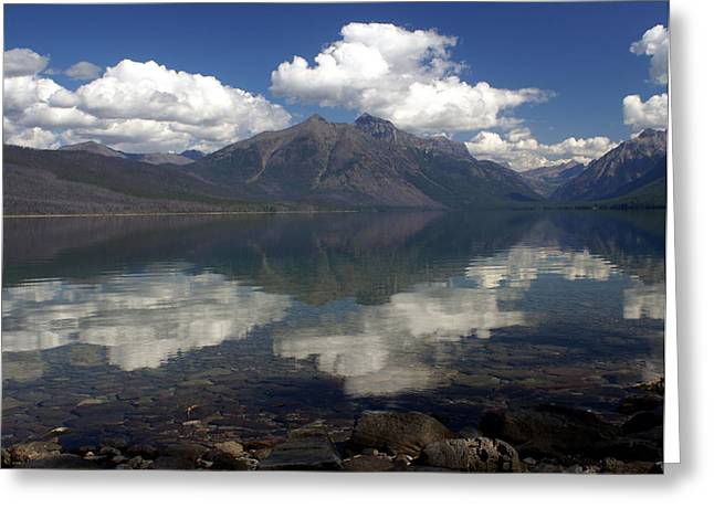 Lake Mcdonald Reflection Glacier National Park Greeting Card by Marty Koch